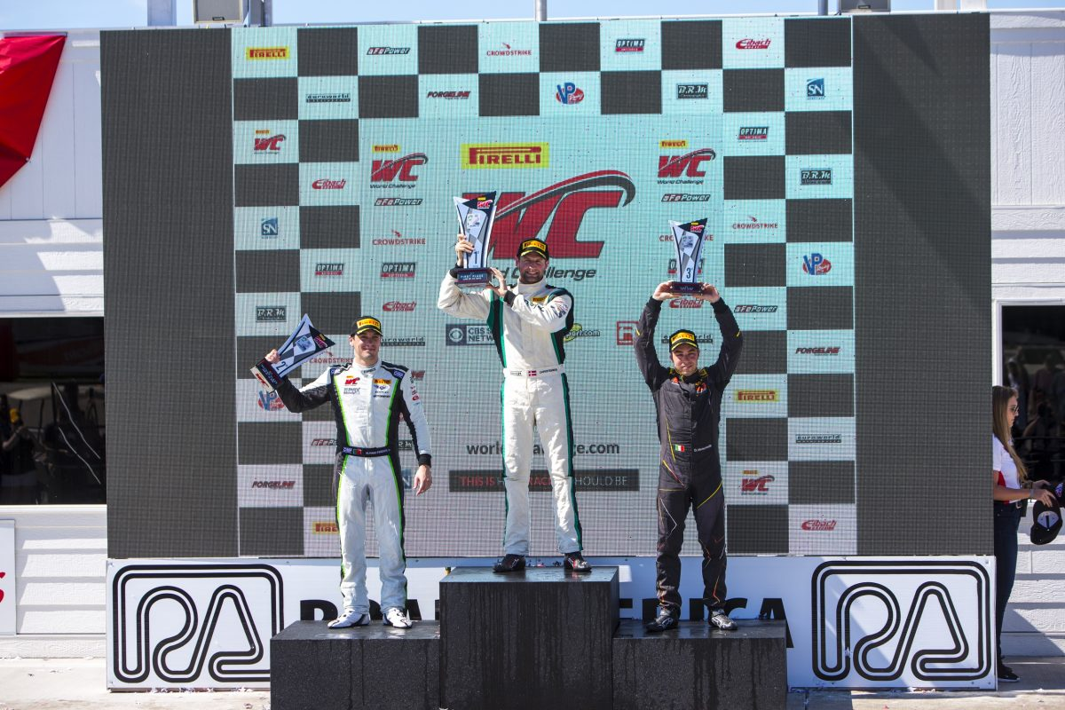 Michael Christensen at the top step